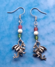 Dragon Bead Earring - Wales